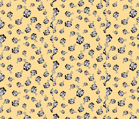 And the Cow Says Mu - Orange fabric by studiofibonacci on Spoonflower - custom fabric