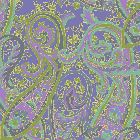 Lavender_Paisley fabric by kelly_a on Spoonflower - custom fabric