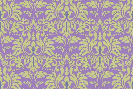Lavender_Damask fabric by kelly_a on Spoonflower - custom fabric
