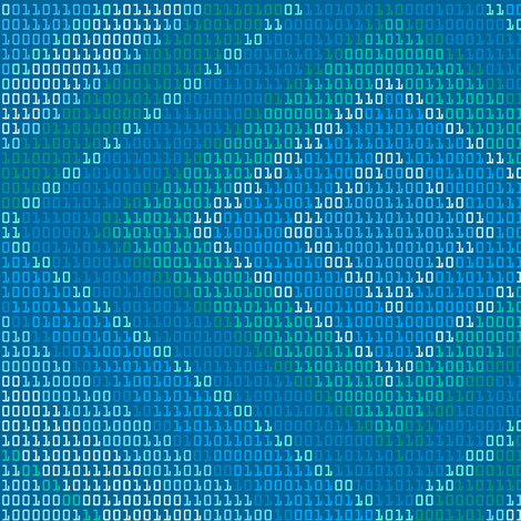 Binary Ikat in Blue