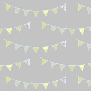 yellow birthday bunting