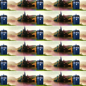 Doctor Who,   sitting outside Hogwarts