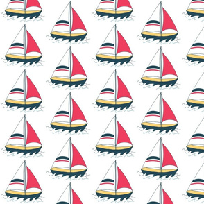 Half Drop Sailboat