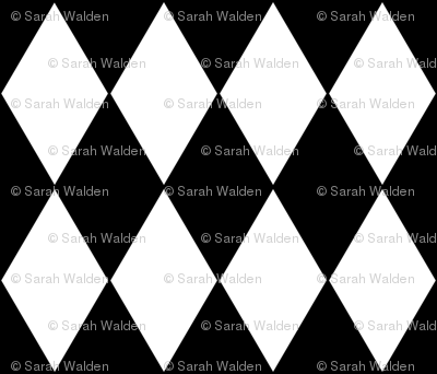 Harlequin Diamonds ~ Black & White
