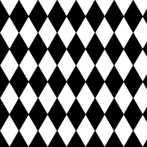 Harlequin Diamonds ~ Black & White