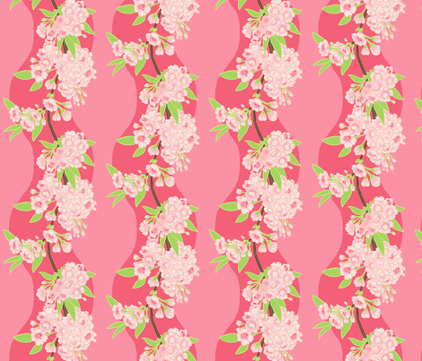 Sakura Chain Pink fabric by aimee on Spoonflower - custom fabric