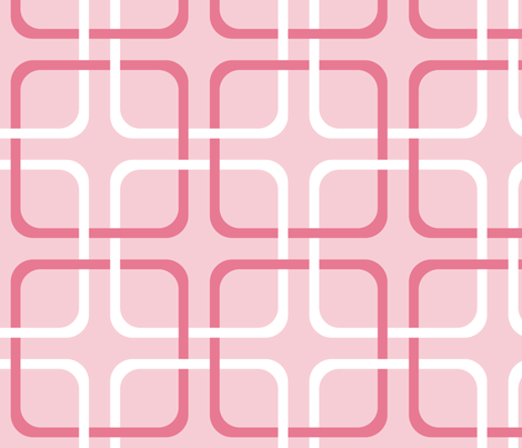 Pink Dawn ~ Squircles ~ Pink & White fabric by peacoquettedesigns on Spoonflower - custom fabric