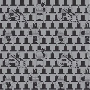 Robot Destruction Grey