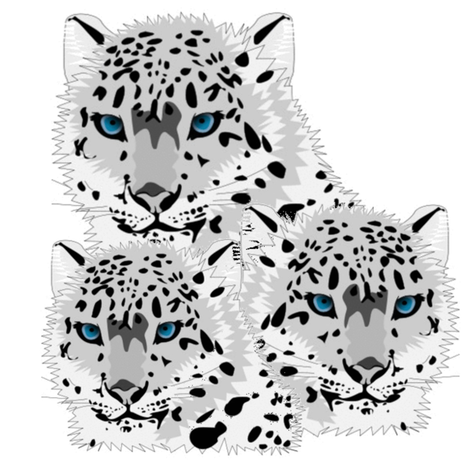 SNOW LEOPARD FAMILY fabric by bluevelvet on Spoonflower - custom fabric
