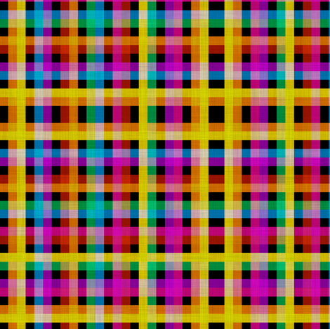 Rainbow Tartan fabric by glanoramay on Spoonflower - custom fabric