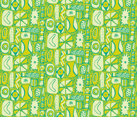 Mod Rocks Lime fabric by slumbermonkey on Spoonflower - custom fabric