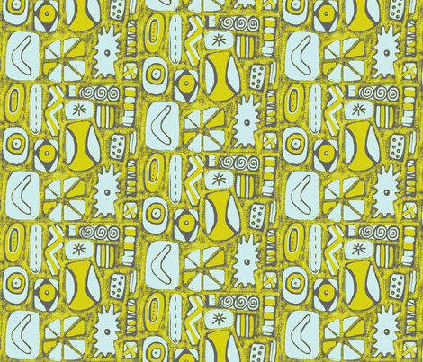 Mod Rocks fabric by slumbermonkey on Spoonflower - custom fabric