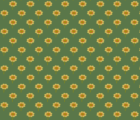 yellow flower in a field  fabric by playbox_ on Spoonflower - custom fabric