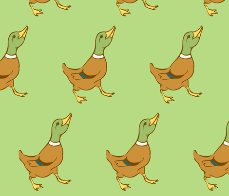 Marching Ducks fabric by laurawilson on Spoonflower - custom fabric