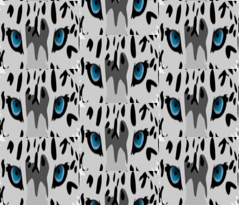SNOW LEOPARD EYES fabric by bluevelvet on Spoonflower - custom fabric