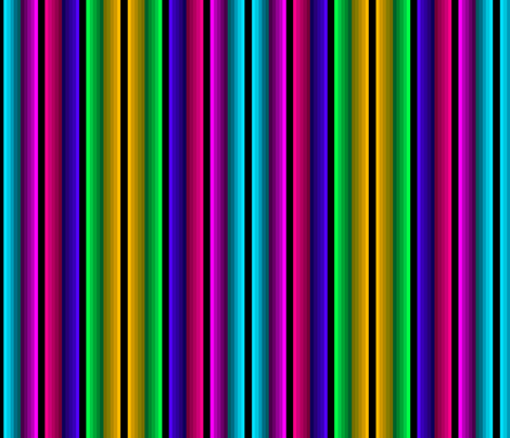 Colorful Fade In-Fade Out Bright Stripe fabric by charldia on Spoonflower - custom fabric