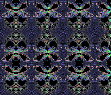 Fractal: Dragonfly Queen at Midnight fabric by artist4god on Spoonflower - custom fabric