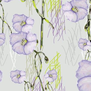 Lavender Buds (from the Poppy Ribbons collection - gray)