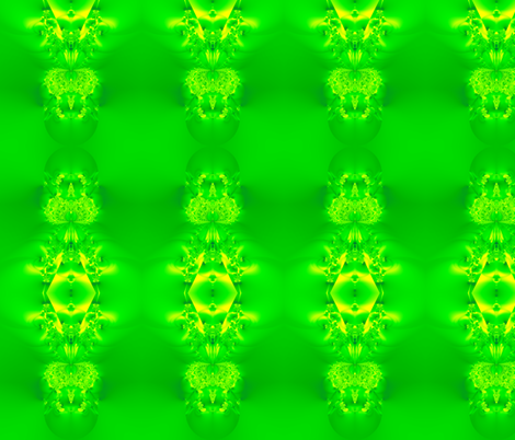 Fractal:  Green Lady Slipper Orchid fabric by artist4god on Spoonflower - custom fabric