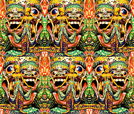 Barong, King Of The Spirits fabric by whimzwhirled on Spoonflower - custom fabric