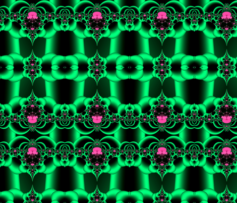 Fractal:  Green Satin Surprise fabric by artist4god on Spoonflower - custom fabric