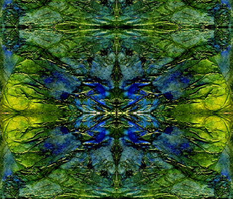 Wings - Abstract in Green and Blue Tones fabric by martaharvey on Spoonflower - custom fabric