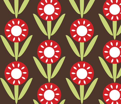 Flower fabric by owlandchickadee on Spoonflower - custom fabric