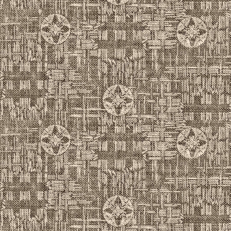 crossflower - espresso and cream fabric by materialsgirl on Spoonflower - custom fabric