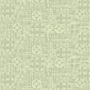 crossflower - green mint, grey