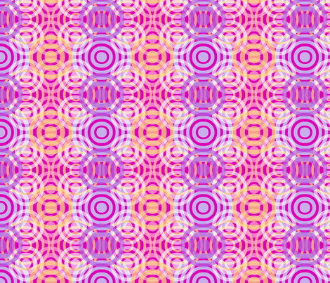 Wave_Pattern_3_Bright_Pink fabric by kcs on Spoonflower - custom fabric