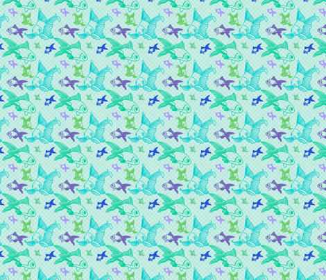 Fishes fabric by vertceriseshop on Spoonflower - custom fabric