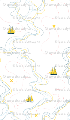 sailing for the treasure - yellow