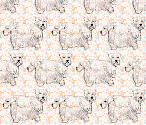 sealyham_terrier fabric by dogdaze_ on Spoonflower - custom fabric