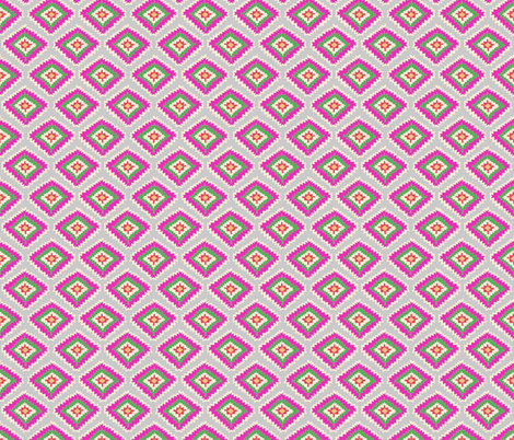 Aztec Fiber (pink grey) fabric by biancagreen on Spoonflower - custom fabric