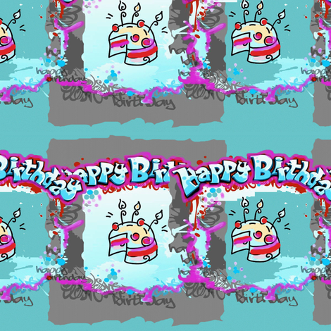 happy_birthday_unisex fabric by viprint_vibes on Spoonflower - custom fabric