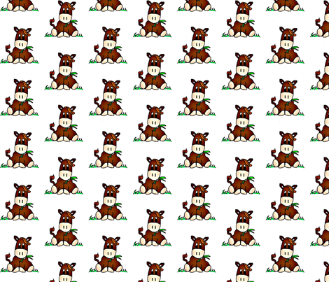 Hazel_the_Horse fabric by carylpritchard on Spoonflower - custom fabric