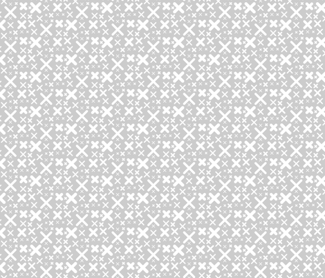 X - gray fabric by kristinnohe on Spoonflower - custom fabric