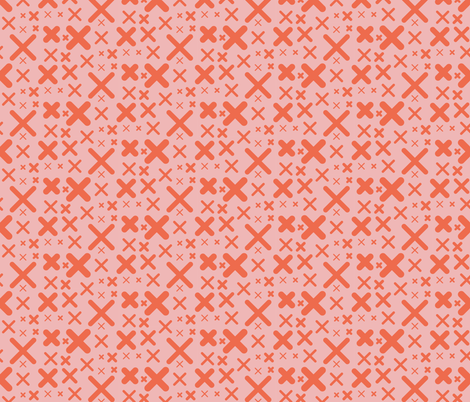 x - pink and red fabric by kristinnohe on Spoonflower - custom fabric