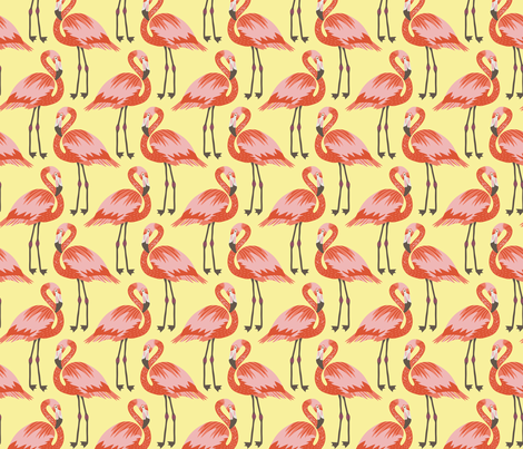 flamingos  fabric by kristinnohe on Spoonflower - custom fabric
