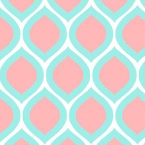 ogee - aqua and pink