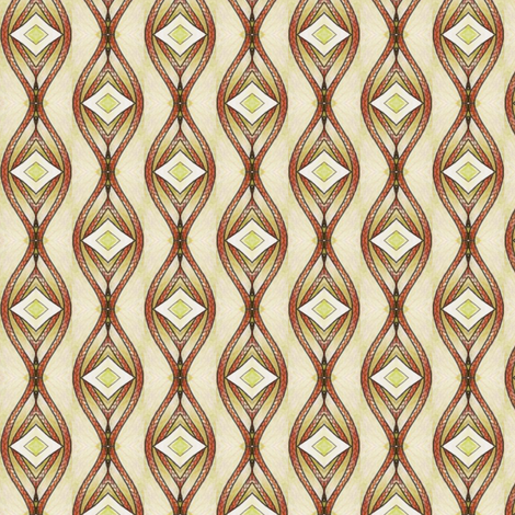Celeriac Rope Stripe fabric by siya on Spoonflower - custom fabric