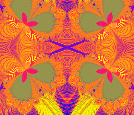 Fractal: Psychedelic Butterfly Explosion fabric by artist4god on Spoonflower - custom fabric