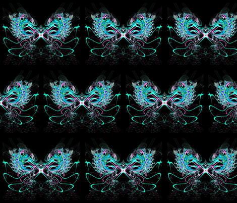 Fractal: Ice Phoenix Rising at Midnight fabric by artist4god on Spoonflower - custom fabric