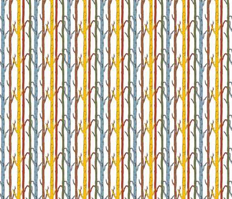 Birches_Blue fabric by ©_lana_gordon_rast_ on Spoonflower - custom fabric