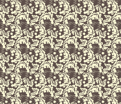 Leaves___Acorns_Brown fabric by lana_gordon_rast_ on Spoonflower - custom fabric