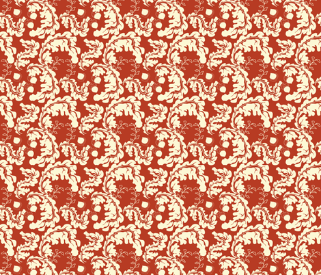 Leaves___Acorns_Red fabric by lana_gordon_rast_ on Spoonflower - custom fabric