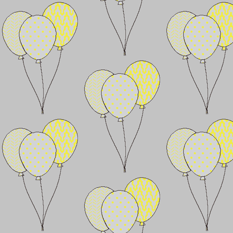 Yellow birthday balloons fabric by mezzime on Spoonflower - custom fabric