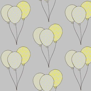 Yellow birthday balloons