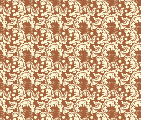 Leaves___Acorns_Rust fabric by lana_gordon_rast_ on Spoonflower - custom fabric