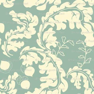 Leaves___Acorns_Soft_Aqua
